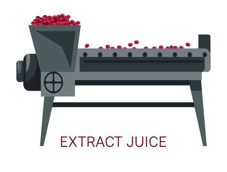 Extract juice grapes squeezing winemaking industry juicer
