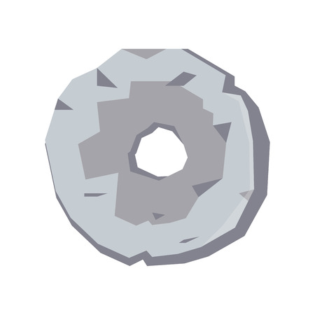 Stone age first wheel invention isolated object Vector Illustratie