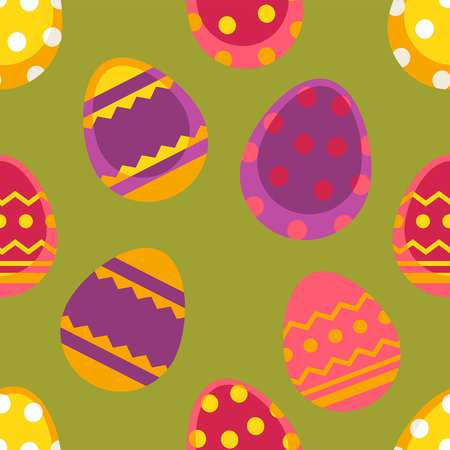 Spring easter vector seamless pattern with colorful