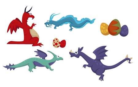Dinosaur dino difference, prehistoric animals set vector.