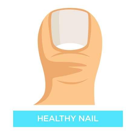 Gesunde Nagel-Zehennagel-Pilz-Infektionsprävention Medizin und Gesundheitswesen Vektorgrafik