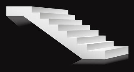 Stairs or staircases and podium ladder. Vector 3D isolated stairs set. Different angles for interior design or building stairway element template icons Foto de archivo - 124687630