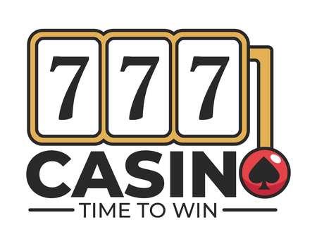 Casino club slot machine and lever arm with spades Иллюстрация
