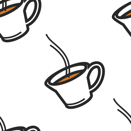 English tradition drink tea cup seamless pattern vector green or black bergamot or herbal in glassware endless texture hot beverage British custom travel to London wallpaper print Britain symbol.