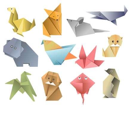 Zwierzęta z papieru origami sztuka azjatycka lub składane arkusze hobby