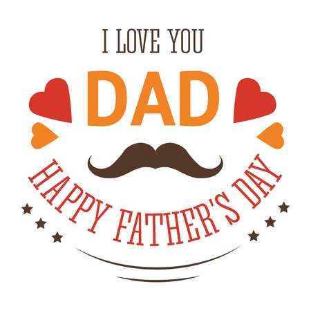 Fathers day isolated icon family member love and appreciation