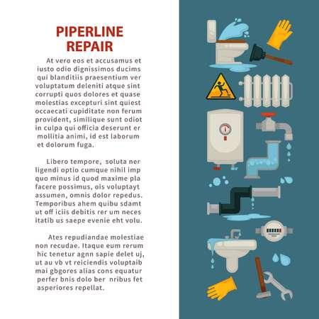 Pipeline-Reparatur-Haus Sanitär-Reparatur funktioniert Badezimmer