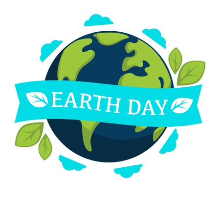 Earth day isolated icon planet and plant leaves Banque d'images - 120617949