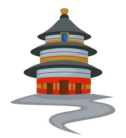 Temple of Heaven Chinese architecture isolated holy tower