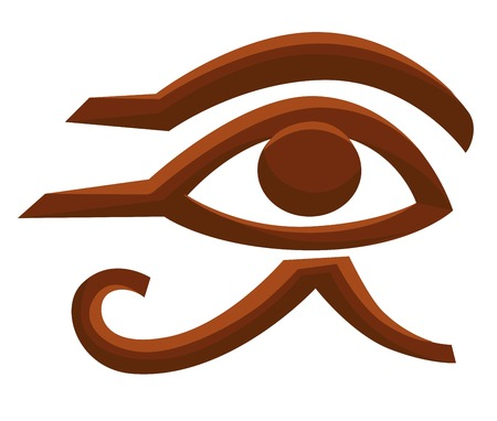 Horus eye Egyptian symbol Egypt ancient religion Illustration