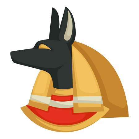 Egypt culture Anubis Egyptian God of underworld dog head vector isolated character mythology and egyptology ancient civilization religion and history animal symbol profile traveling and tourism. 일러스트