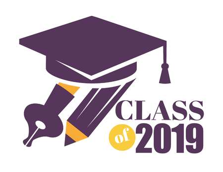 Graduation isolated greeting icon or logo education and knowledge Bachelor