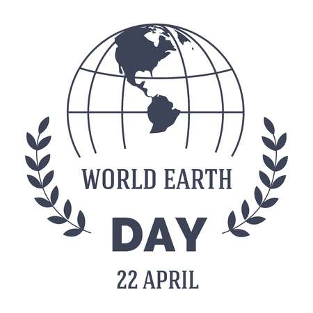 Ecology and environment Earth day isolated monochrome icon vector plant leaves