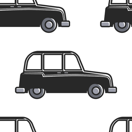 London symbol English cab seamless pattern car or taxi vector transport and transportation retro vehicle England culture endless texture tourism and attraction automobile wallpaper print motorcar.