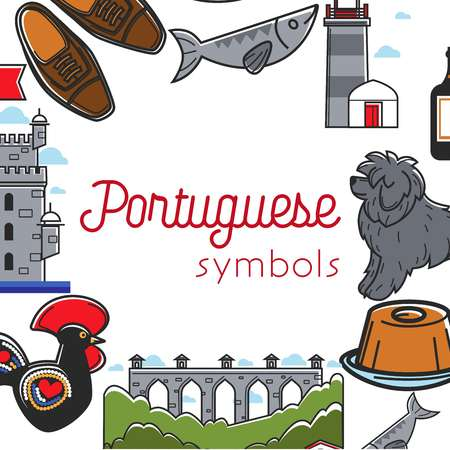 Portuguese symbols travel to Portugal culture and tourism traveling