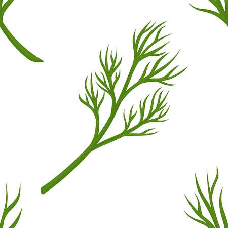 Dill branch seamless pattern greenery and organic seasoning