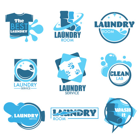Laundry service isolated icon clothes and washing machine Vector Illustration