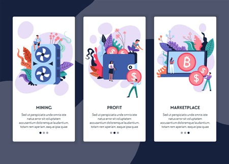 Bitcoin Mining And Profit Cryptocurrency Marketplace Online Web