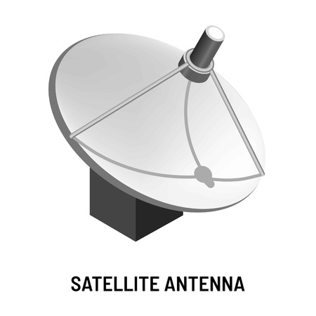 Telecommunication and satellite antenna TV channels provision and isolated device vector media data transmission technology and radio connection signal receiver world television broadcasting