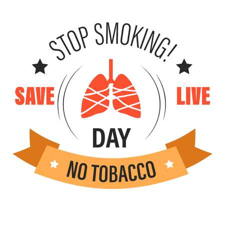 No tobacco isolated icon stop smoking lung cancer risk Ilustracja