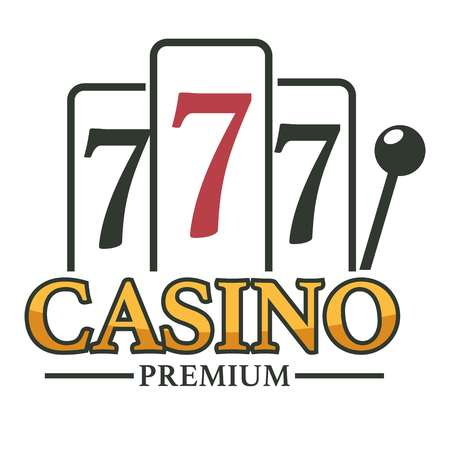 Casino club slot machines and lever arm isolated icon