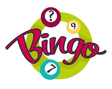 Bingo game balls with numbers gambling and casino isolated icon