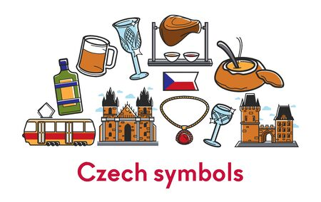 Czech Republic symbols architecture food and drink traveling