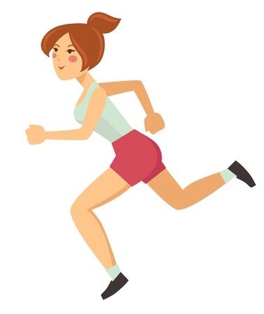 Woman running or jogging sport healthy lifestyle outdoor activity 向量圖像