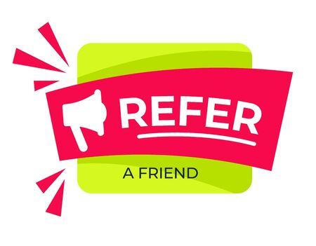Refer friend loudspeaker or bullhorn share media isolated icon