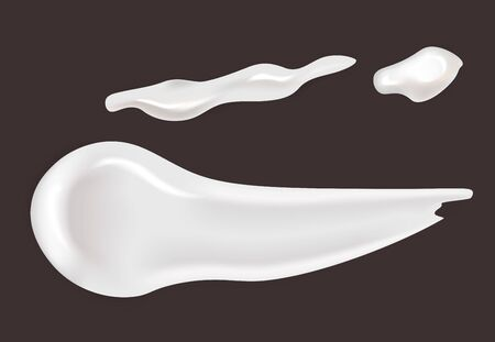 Cream smears cosmetics and skincare or makeup gel or lotion