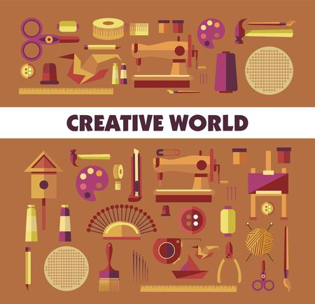 Creative world handicraft tools and equipment hobby or craft