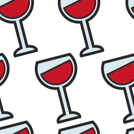 Modèle sans couture de boisson de raisin de boisson d'alcool de vin français
