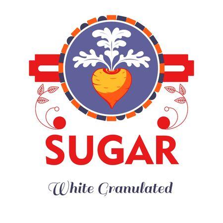 Beetroot sugar natural product sweetener isolated icon Illusztráció