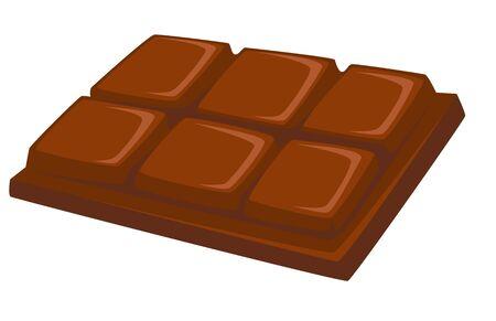 Dessert chocolate bar sweet food isolated dish