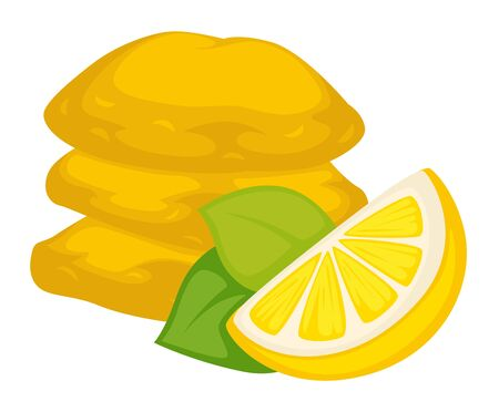 Food dried lemon with sugar snack or dessert isolated cooking ingredient treat or meal sweet dish citrus candied fruit slice vitamin C, culinary or cuisine juicy product and natural sweets or candies