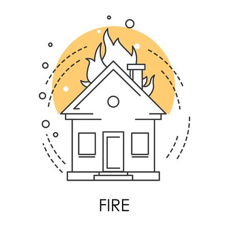 Natural disaster or human fault, fire isolated icon Stock fotó - 129761757