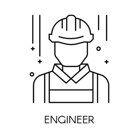 Ingenieur oder technischer Service isoliertes Umrisssymbol, technische Unterstützung