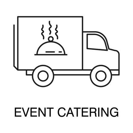 Event catering isolated outline icon logo vector Foto de archivo - 129761945