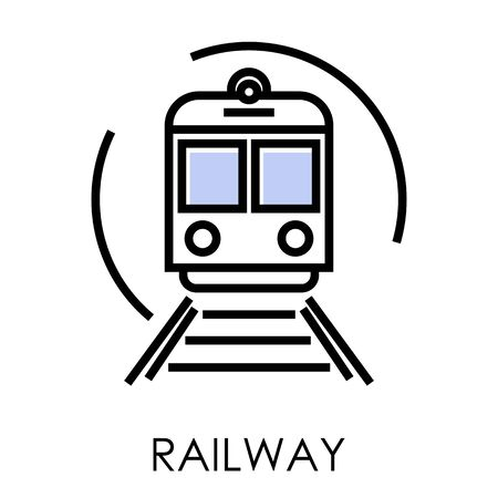 Railway delivery and transportation isolated icon, logistics and shipping Illustration