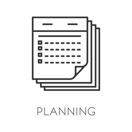 Planning isolated icon, time management and business meetings appointment Ilustracja