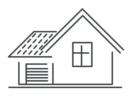 House isolated icon, real estate or smart house selling Illustration