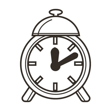 Awaking to school, alarm clock, time concept and education 向量圖像