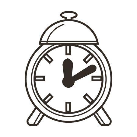 Awaking to school, alarm clock, time concept and education Illusztráció
