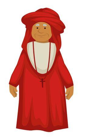Papa antico, sacerdote o ecclesiastico rinascimentale, religione cattolica