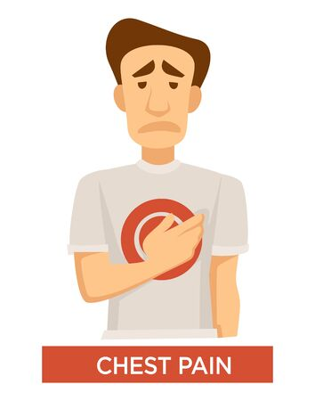 Tuberculosis symptom, chest pain, lungs disease isolated icon