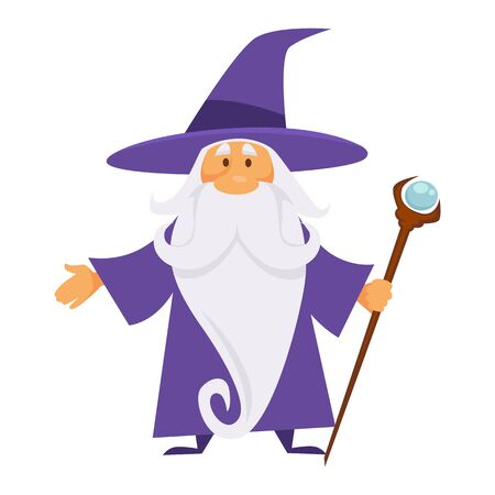 Old magician or wizard, witchcraft and warlock, isolated character