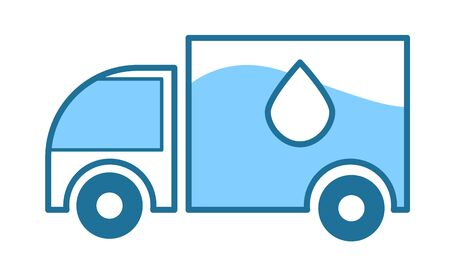 Water delivery truck, clean purified mineral drink