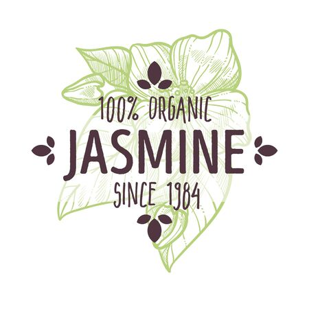 Organic herb, jasmine flowers, herbal tea and healthcare products