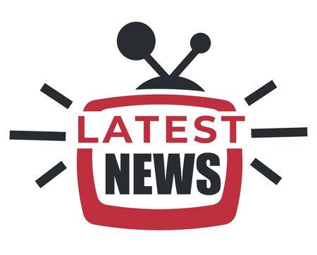 Mise à jour quotidienne, icône isolée des dernières nouvelles, rapport de rupture