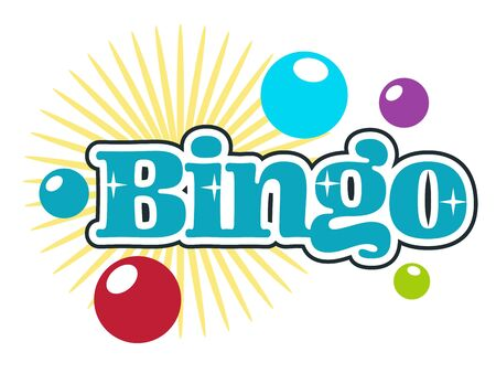 Bingo players club, gambling or playing casino, isolated icon